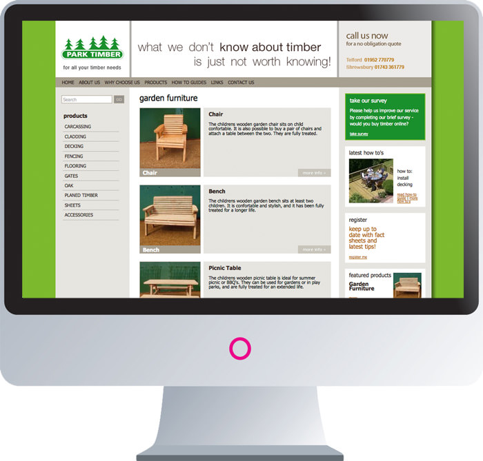 Park Timber Website Launch | Website Development In Shropshire