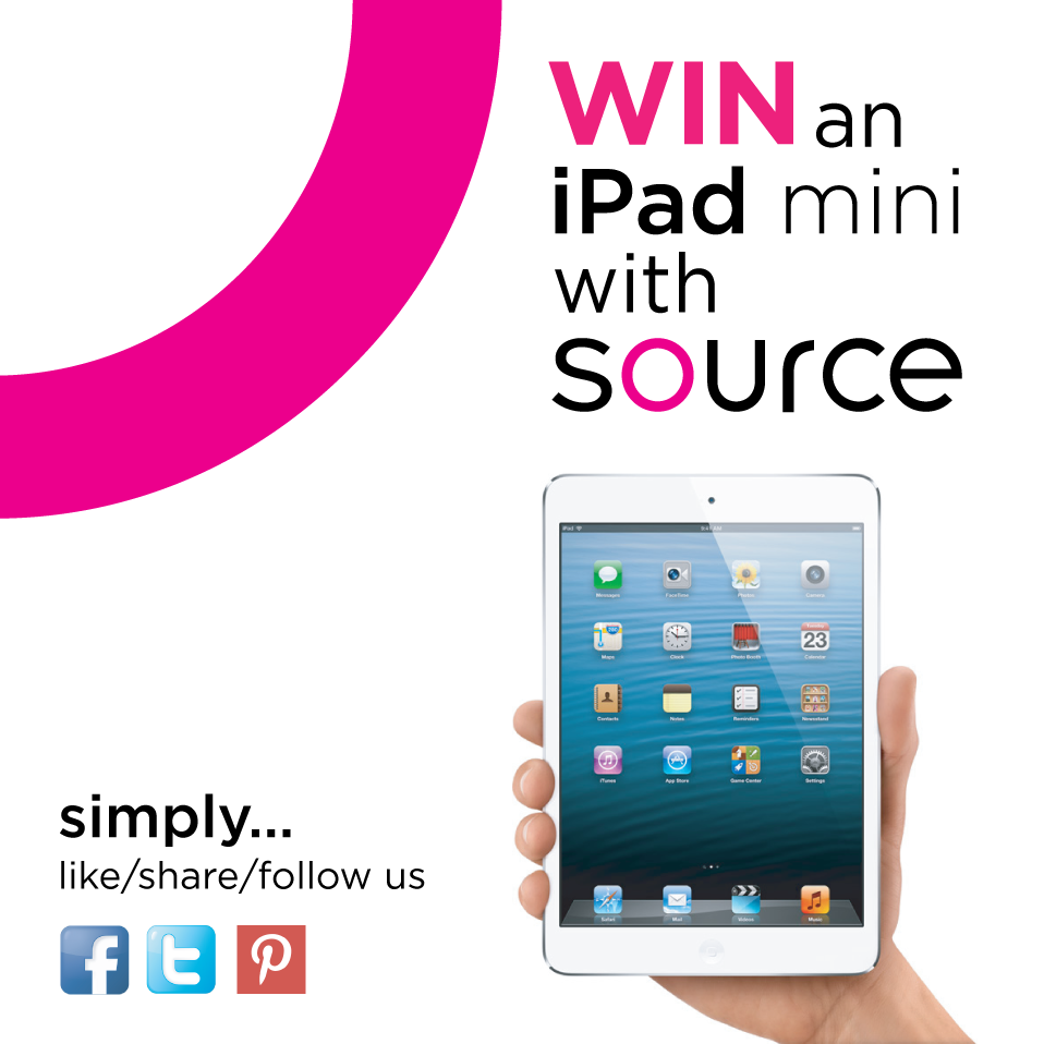 Win An iPad Mini With Source | Design & Branding Agency In Shropshire