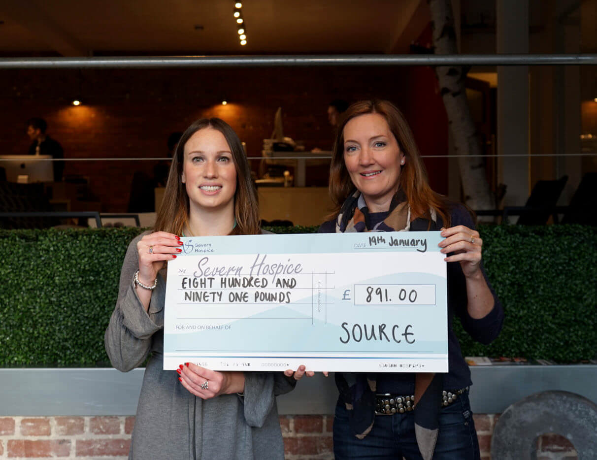 Source Donating Money Raised To Severn Hospice