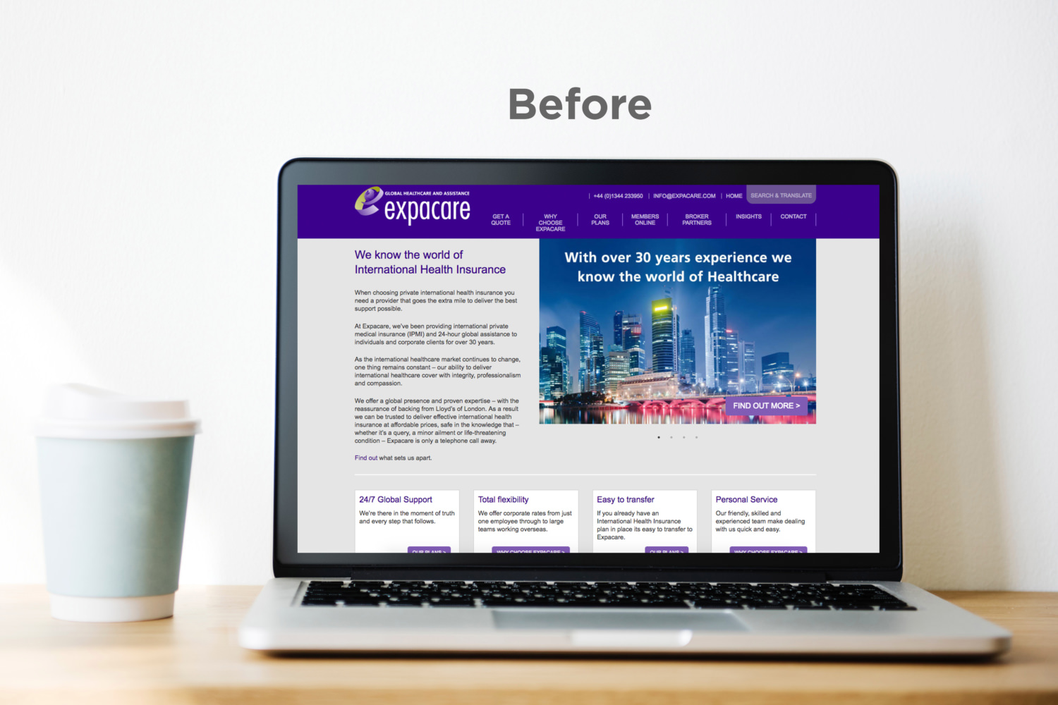 Expacare - Before