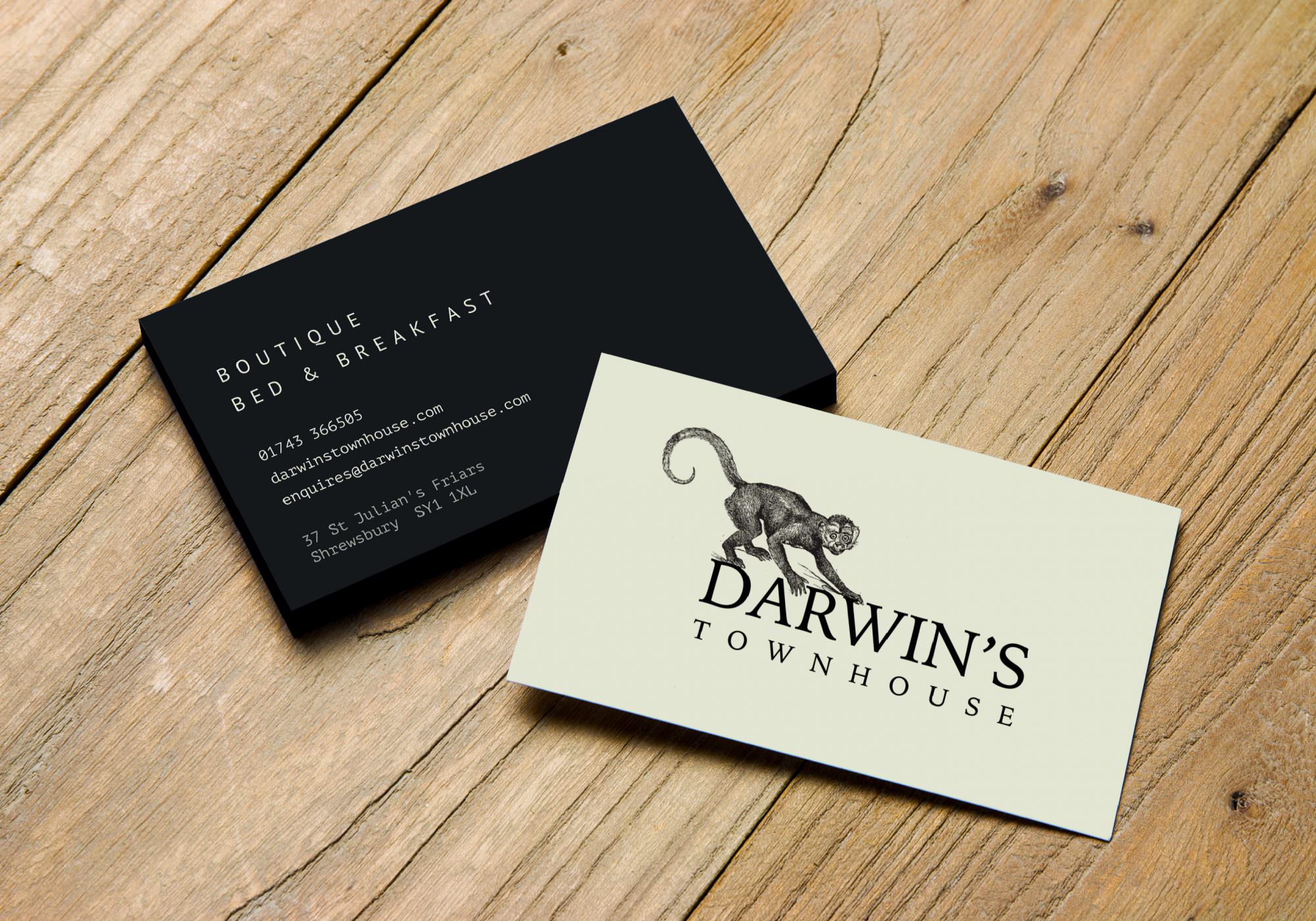 Darwin's Townhouse - Brand Identity & Photography In Shropshire