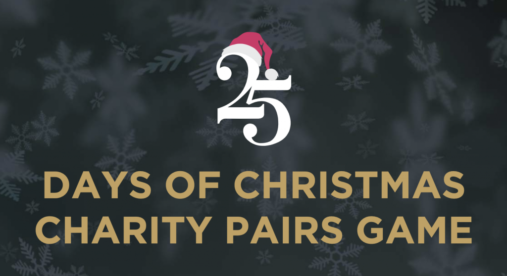 25 days of Christmas charity pairs game