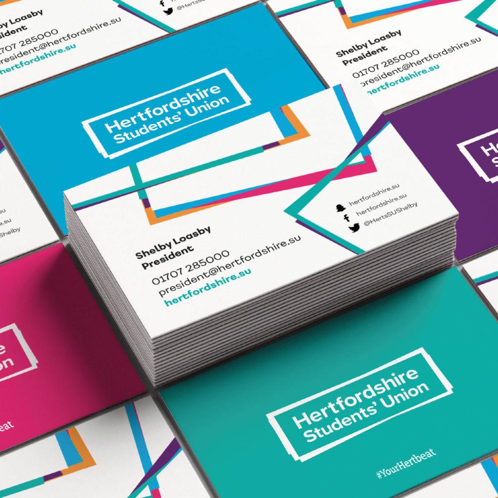 Hertfordshire Students' Union - Branding, Design, Signage & Graphics