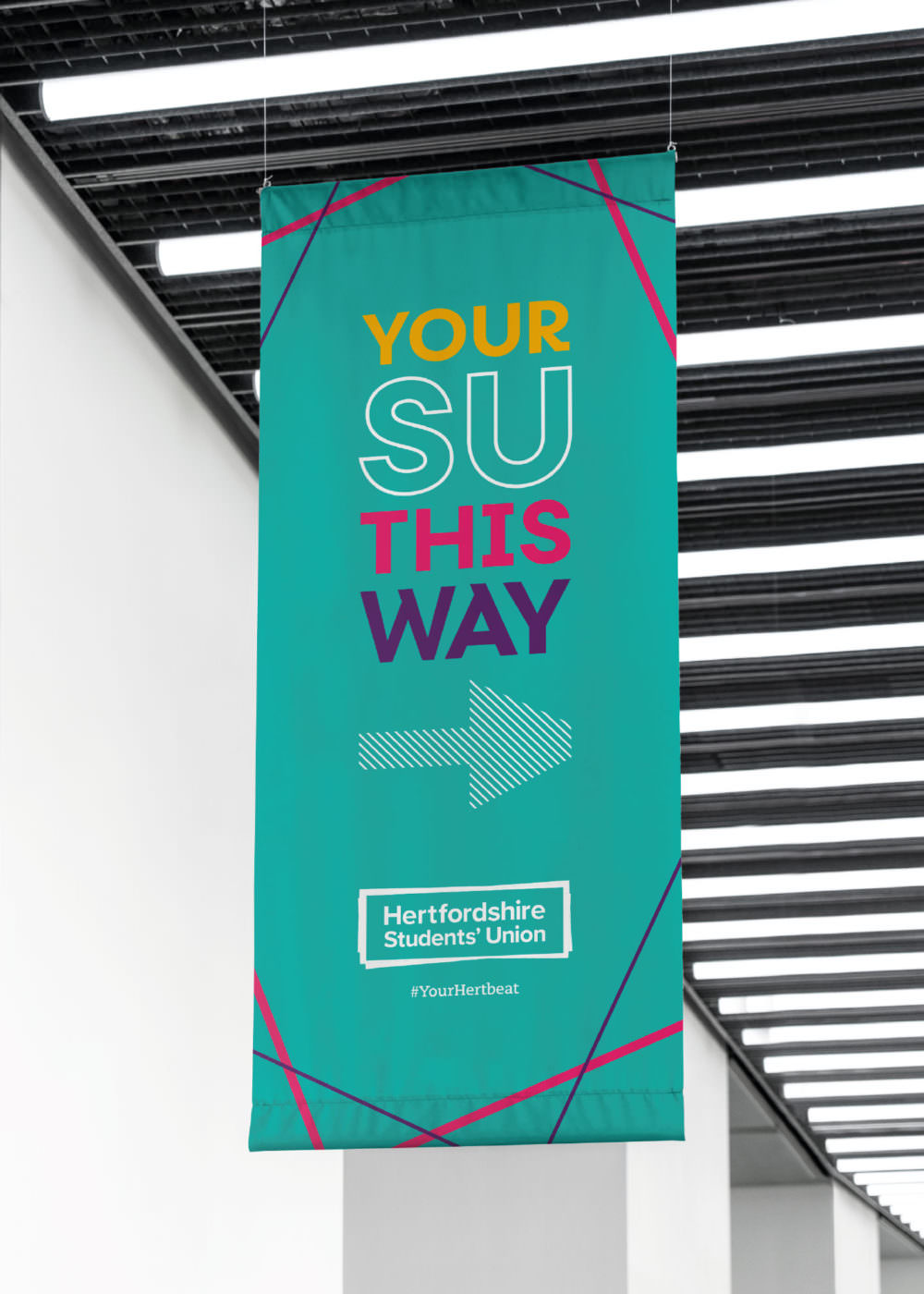 Hertfordshire Students' Union - Branding, Design, Signage & Graphics