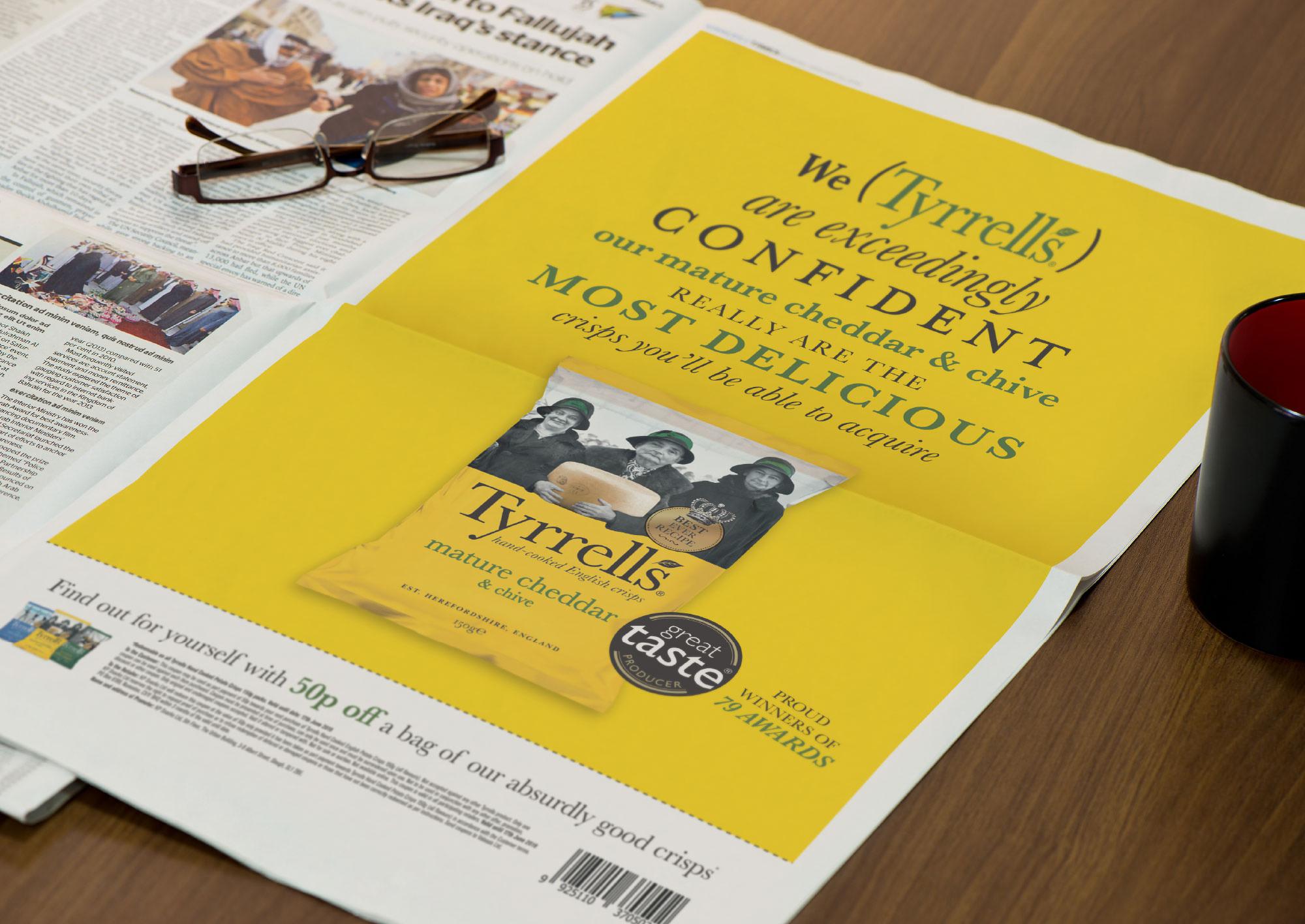 Tyrrells newspaper advert