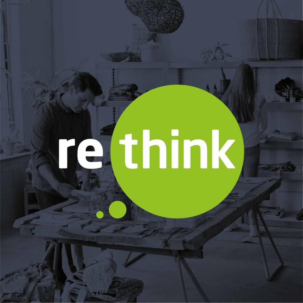 ReThink Logo Over Image Of Shop