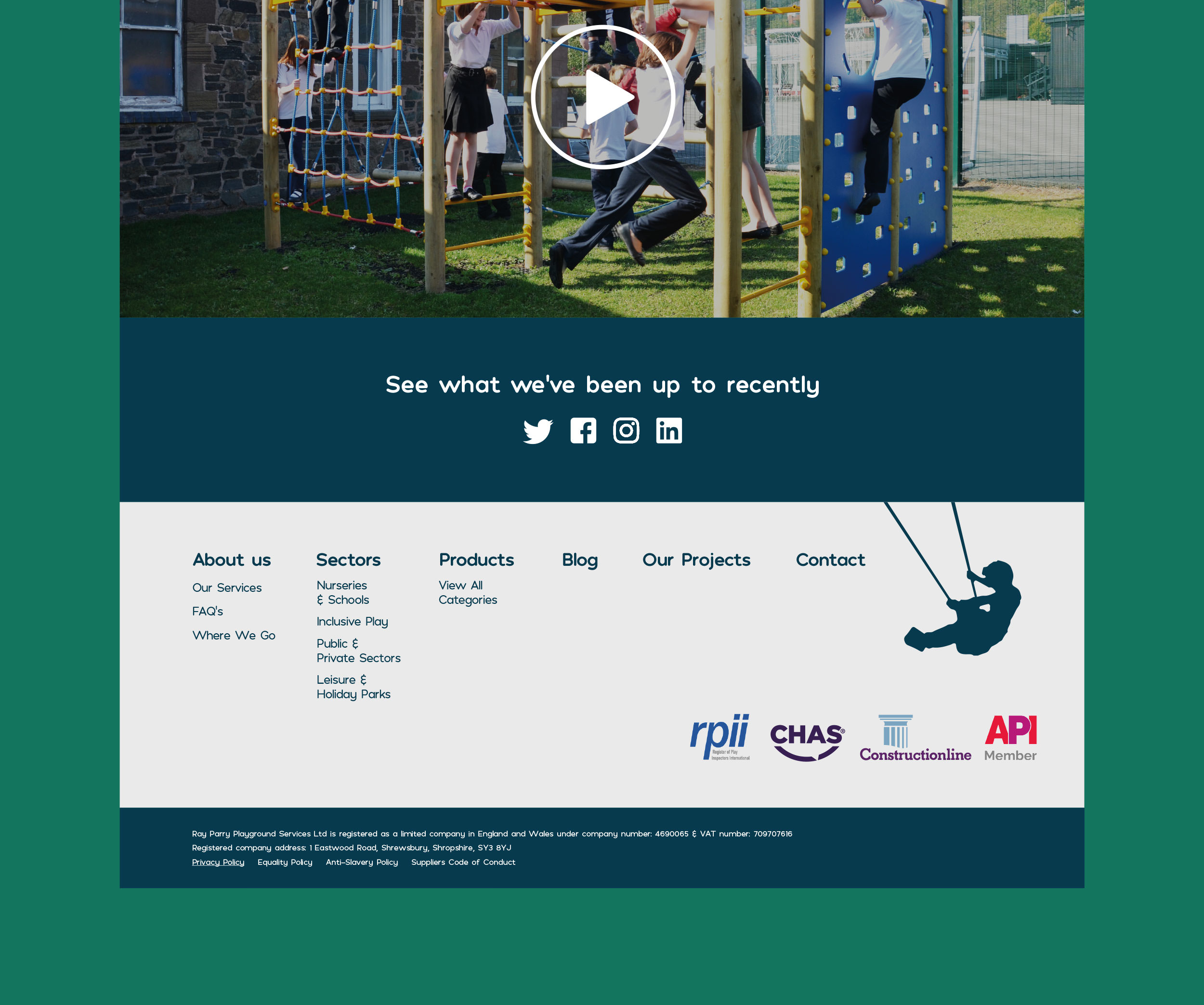 Ray Parry Playgrounds - Website & Marketing Material In Shropshire