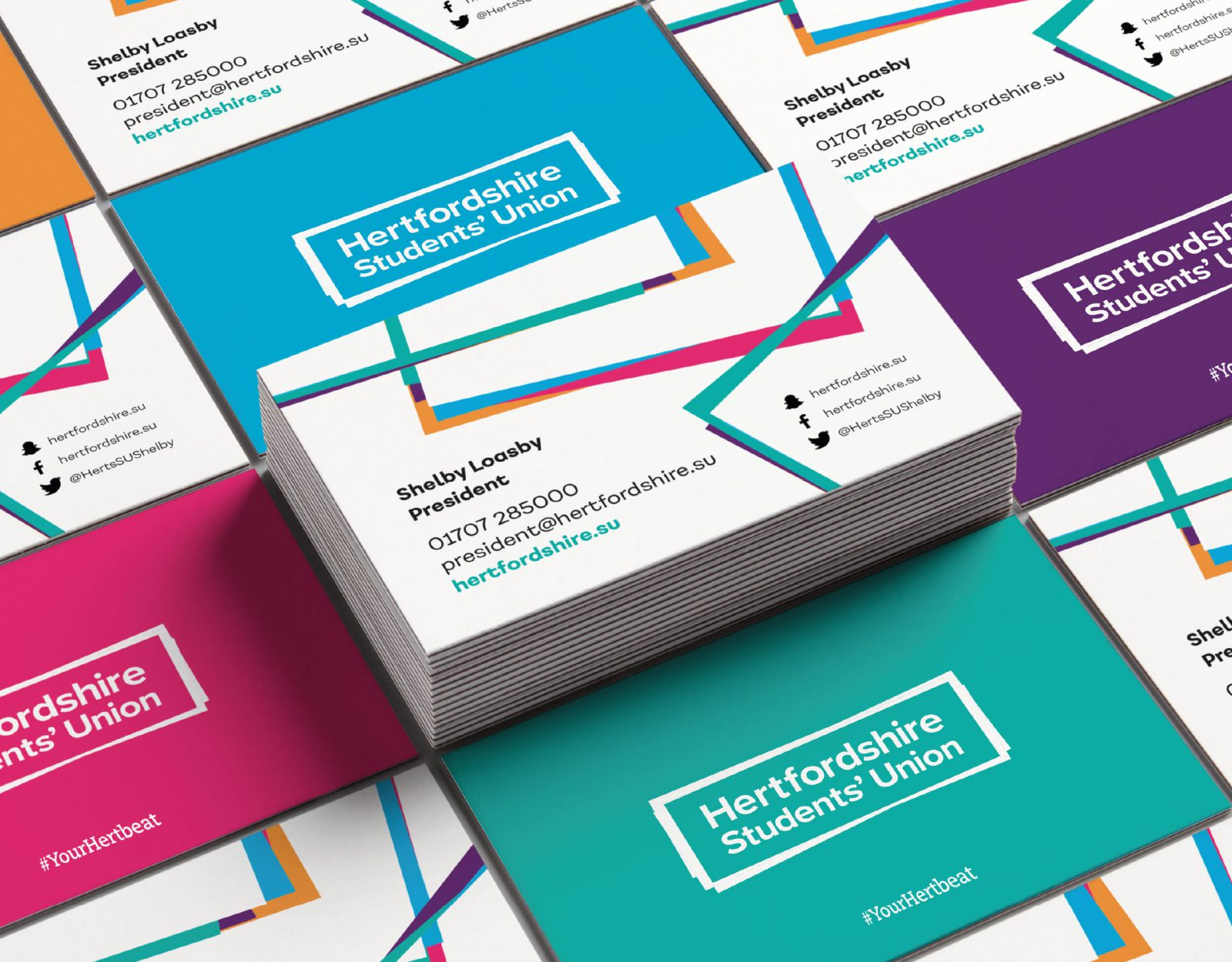 Hertfordshire Students' Union business cards