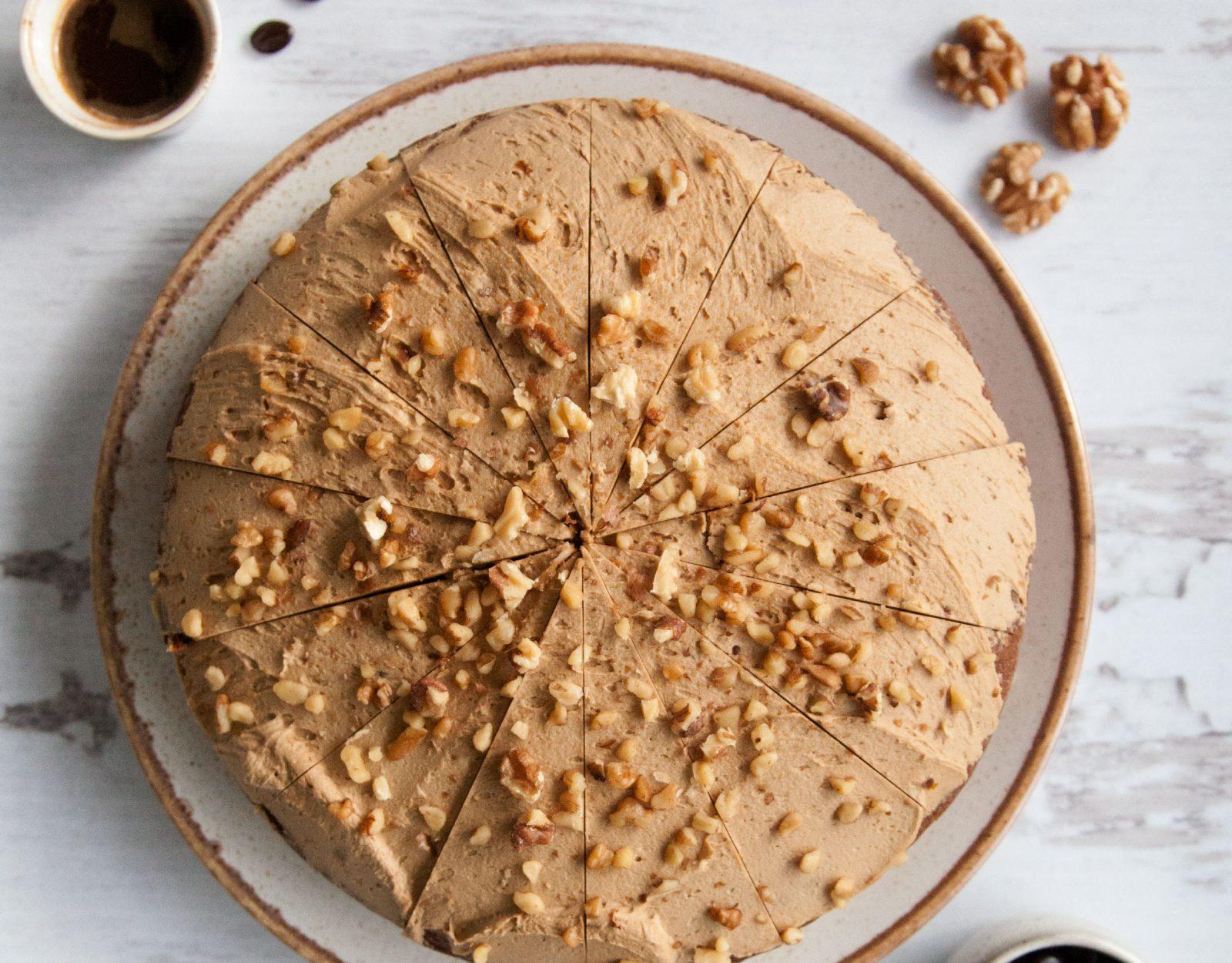 Sidoli walnut cake photography