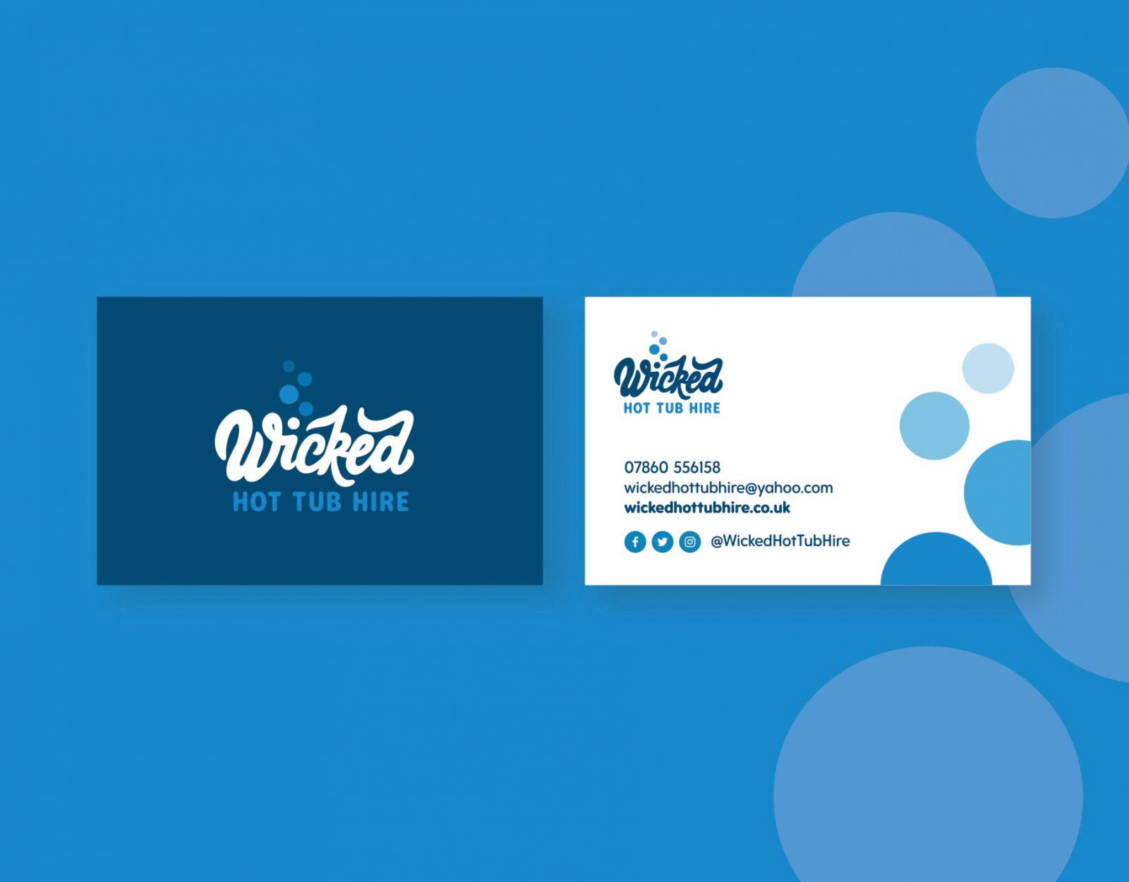 Wicked Hot Tub Hire business card