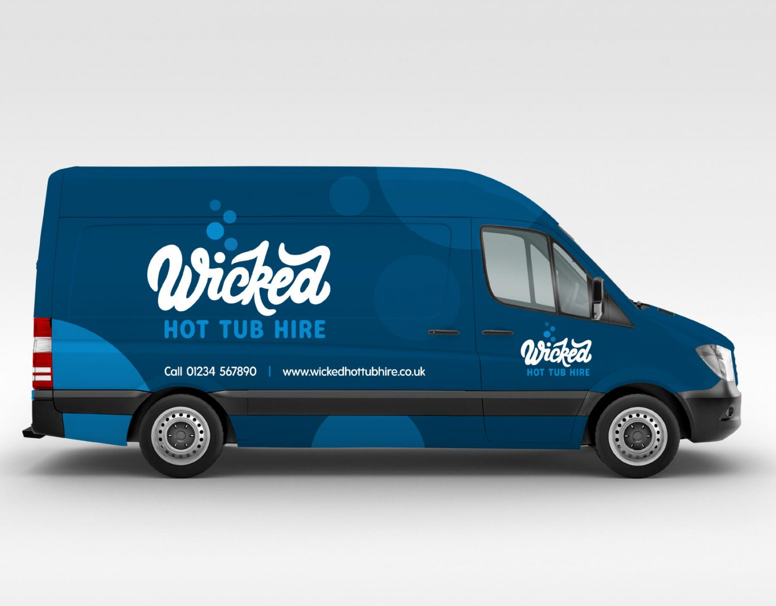 Wicked Hot Tub Hire van livery
