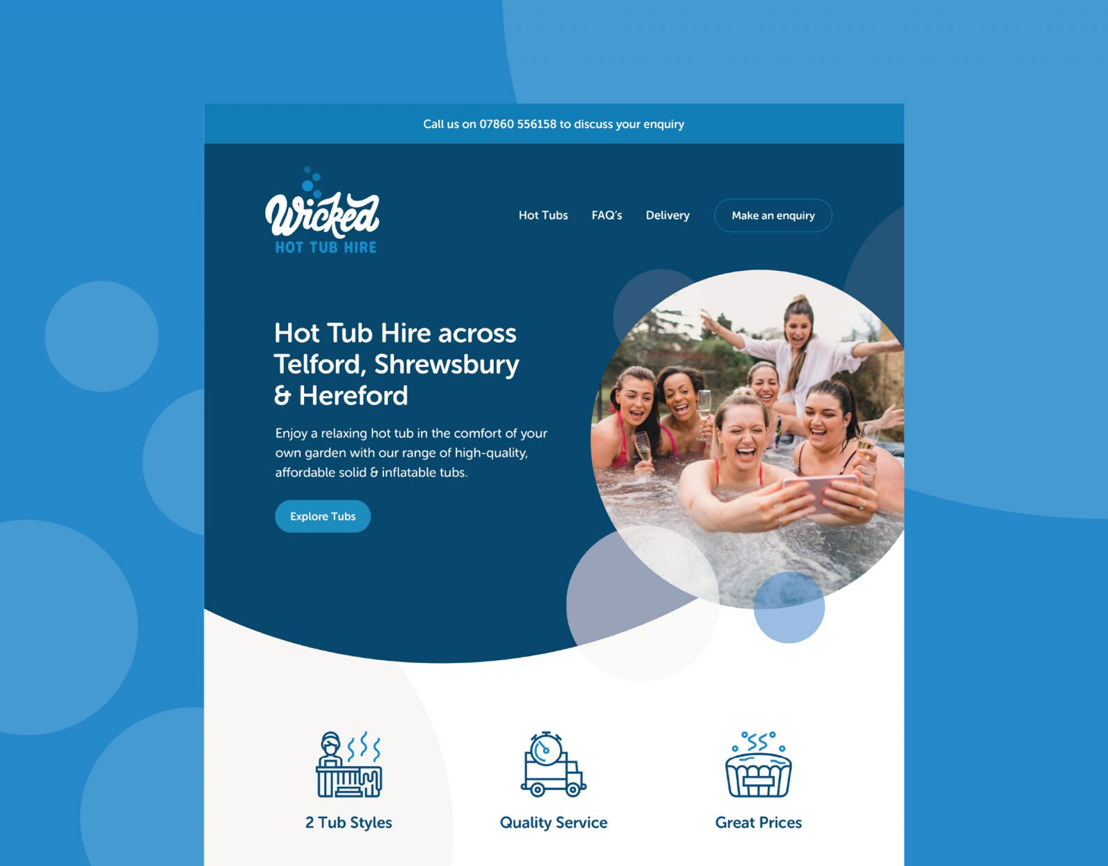 Wicked Hot Tub Hire website